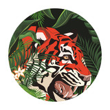 wild tiger face  cartoon