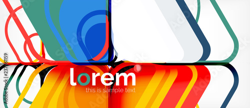 Abstract background multicolored geometric shapes modern design - 237861159