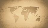 Vintage sepia world map