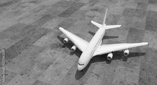 Leinwandbild Motiv passagierflugzeug ansicht 3