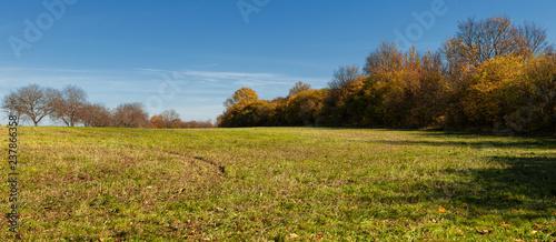 Beautiful countryside landscape in Czech Republic golden fall season - 237866358