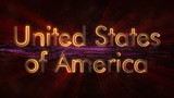 United States of America - Shiny looping country name text animation