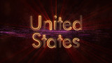 United States - Shiny looping country name text animation