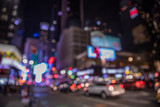 Bokeh background with defocused  lights, New York poster
