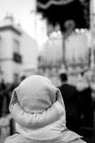 Costalero mirando el paso de su reina en semana santa en Andalucía  Sevilla Huelva - 237880163