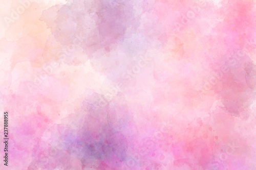 Pink abstract watercolor background - 237888955