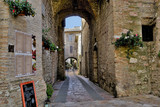 Street of the medieval Quarter of the City Assisi , Italy.  © Rosen
