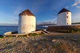 Mykonos. An old traditional windmill. - 237921135