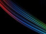 Abstract background with colorful lines at black