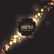 Christmas background with gold bokeh lights