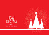 Christmas background with trees and decorative text - 237953360
