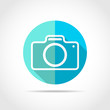 Photo camera icon. Vector illustration.