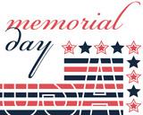 US Memorial Day Poster. Vector Illustration.