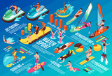 Water Sport Isometric Infographics  © macrovector