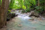 Erawan waterfall at Erawan National Park in Kanchanaburi, Thailand.