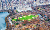 Metropolitan Museum Of Art and Central Park aerial view in autumn, New York City from helicopter - 238022936