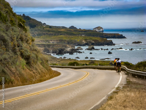 cyclists riding the road on the Central Coast, California