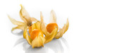 Physalis peruviana. Cape Gooseberries over white background. Ripe fresh Physalis closeup. Goldenberry - 238048526