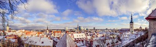 Fototapeta panoramic view of the Tallin