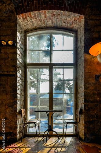 window in stone wall - 238050132