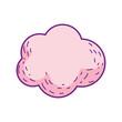 cute fairytale cloud icon