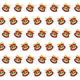 Samurai skull - sticker pattern 40