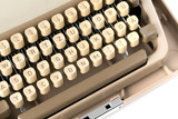 Close up of retro style typewriter in studio - 238062780