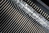 Close up of retro style typewriter in studio - 238062936