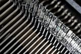 Close up of retro style typewriter in studio - 238062945