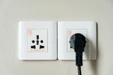 Universal electricity sockets & plug - 238063112