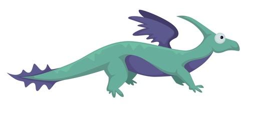 Dinosaur dino prehistoric animal vector isolated illustration. © Sonulkaster