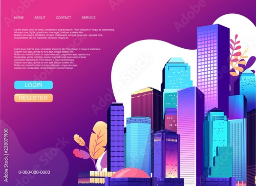 Abstract city banner - 238079100