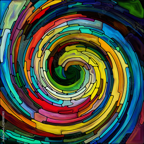 Leinwandbild Motiv Visualization of Spiral Color