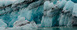 Close up of Ice layers in Iceland Glacier Lagoon