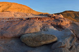 Sunset at colourful rocks and sand of Yeruham wadi ,Middle East,Israel,Negev desert