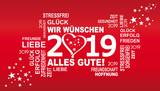 2019 - wir wünschen alles gute mit herz