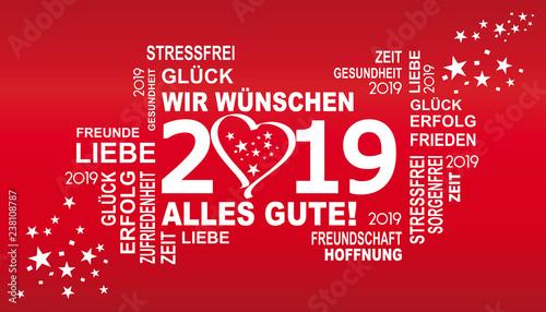 2019 - wir wünschen alles gute mit herz - 238108787