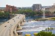 Third Avenue Bridge over the Mississippi River in Minneapolis Minnesota USA