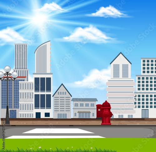An urban building landscape
