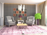 interior with chair. 3d illustration - 238133942