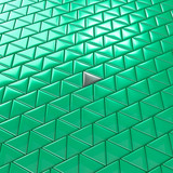 Abstract triangles. Mint color. Background texture. 3D rendering.