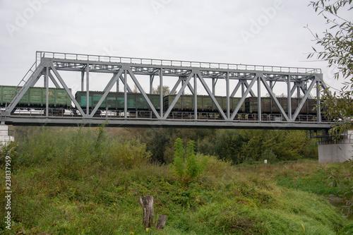 Obraz na płótnie most kolejowy na granicy polsko-ukraińskiej w hrubieszowie