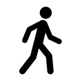A person walking or walk sign flat vector icon for apps and websites