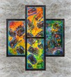 Abstract colorful oil painting - 238145368