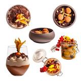 Set of fancy dessert