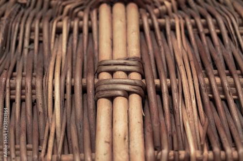 Bottom of woven basket