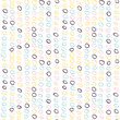 Abstract seamless pattern with freehand  shapes made in vector. Marker marks, strokes and scribbles in pastel colors on white background. - 238154746