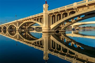 Bridge Reflection At Sunset © JHK FOTO AZ