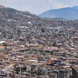 Views over the city of Ayacucho from the Mirador de Acuchimay. Ayacucho, Peru