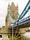 Tower Bridge, iconic victorian bridge through the Thames River © Arndale